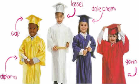 Kindergarten Caps and Gown by Saxon Uniform
