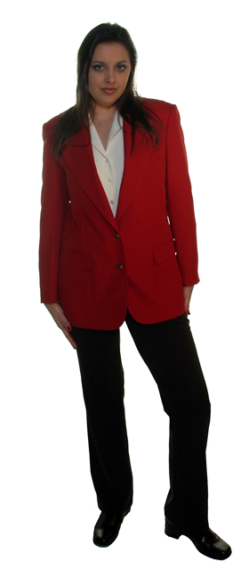 women's beautiful red blazer